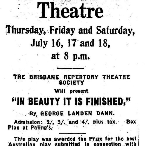 Brisbane Courier advertisement.