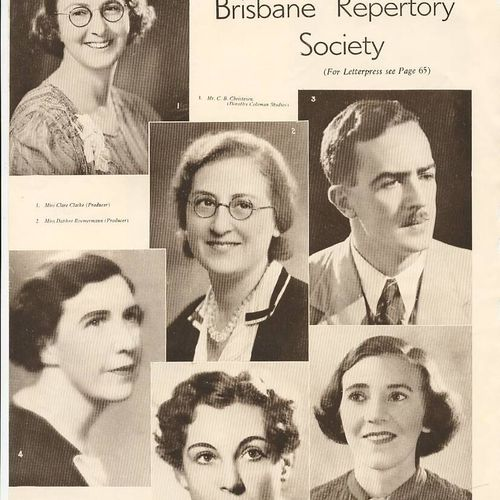 Top L to R: Clare Clarke, Daphne Roemermann, Clem Christesen. Bottom L to R: Gwen McMinn, Audrey Court, Dorothy Weller.