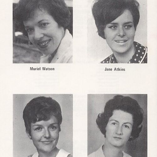 Prominent 1960s La Boite actors. Top: Muriel Watson, Jane Atkins. Bottom:Kaye Stevenson, Lesley Ricketts.