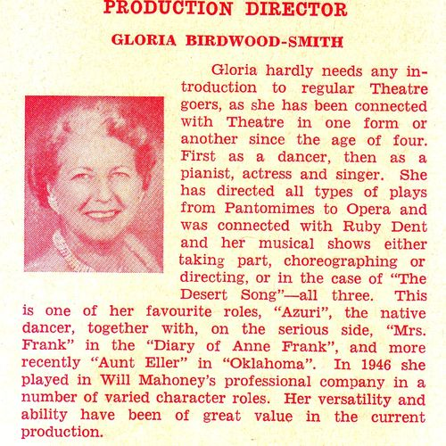 From Calamity Jane Program, 1965.