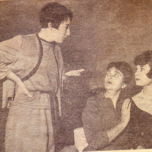 Helen Jolly, Gwen Smith, Denise Morgan in rehearsal for Brief Suspicion, 1968..