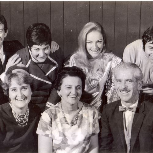 Come Blow Your Horn directed by Rikki Burke (centre front). Back: David Waters, Merlene Gollan, Jacque Byrnes, Frank Gallagher.