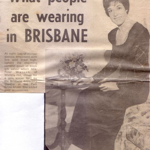 Muriel Watson, Chairman of the Brisbane Repertory Theatre Social Committee's Premises Appeal, 1969.