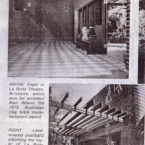 La Boite interior and courtyard, in the Australian  Woman's Weekly June 6, 1973.