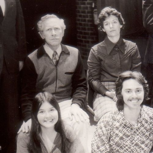 The Trouble With Gillian cast. Back row: Andrew Peate, John Spooner, June Lynch, Tom Solly. Front Row: Monica Gilfedder, Mark Doherty.