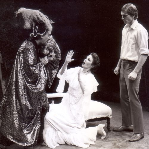Peter Darch, Christine Hoepper, David Harpham in the Othello scene from The Man from Mukinupin, 1980.