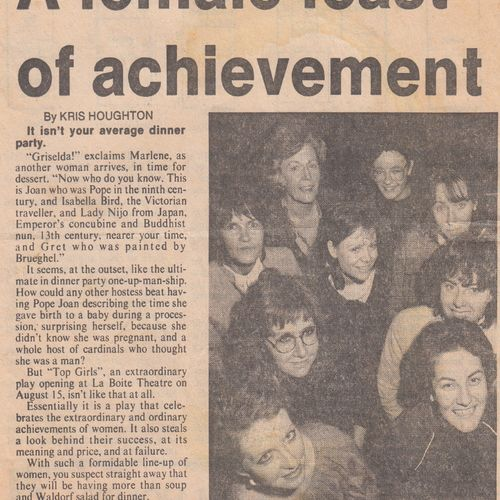 Article by Chris Houghton in The Sunday Mail, 5 August 1984.