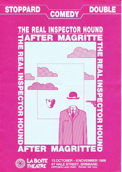 After Magritte & The Real Inspector Hound