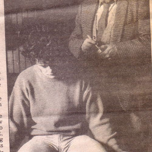Ian Leigh-Cooper and Scott Witt in Equus, in The Sun July 13 1989.