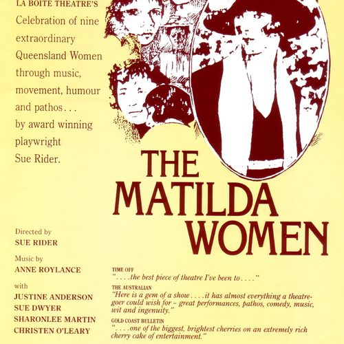 The Touring flyer for The Matilda Women.