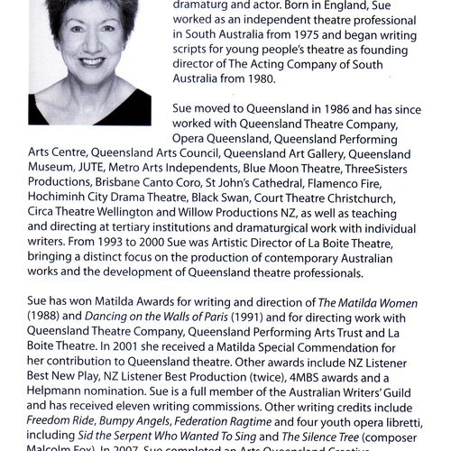 Sue Rider's biography in The Matilda Women, Playlab Press 2009, p 6.