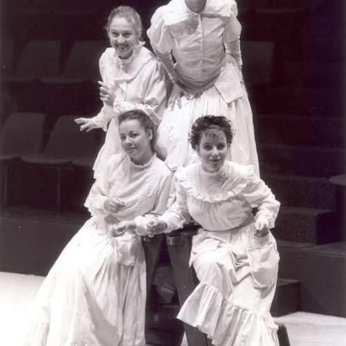 The Matilda Women written and directed by Sue Rider, 1989.  Top row: Leanne Foley, Sharonlee Martin Bottom row: Sue Dwyer, Christen O'Leary