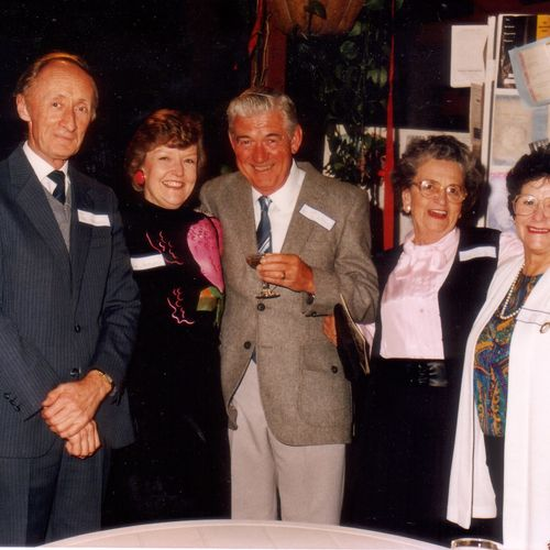 L to R: John and Kaye Stevenson, Les McWilliams, Rikki Burke & and Mrs Williams.