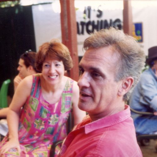 Sue Rider and Jim Vilé in the foyer, 1993.