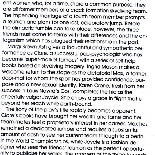 Amanda Ball review in Rave 14 September 1994