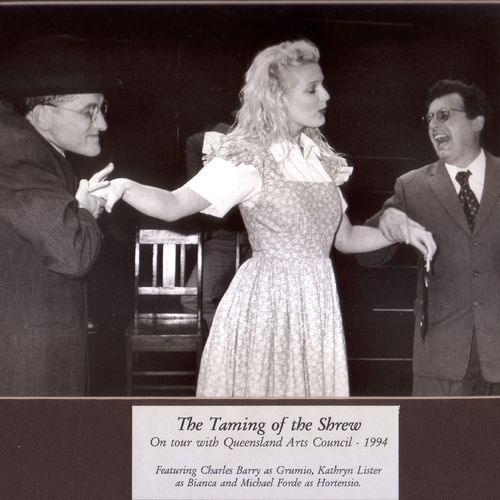 The Taming of the Shrew on tour, 1994.