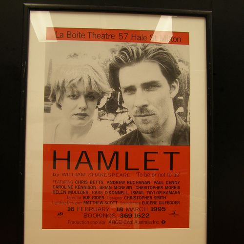 Hamlet poster with Caroline Kennison and Andrew Buchanan, 1995.