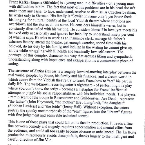 Review by Andrea Baldwin in Time Off, 10 May 1995.