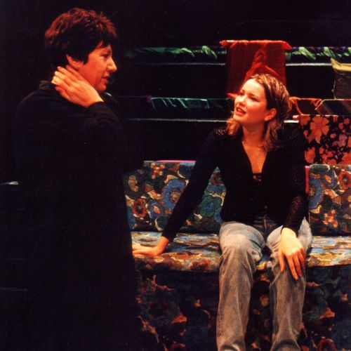 Sue Rider and Caitlin Hunter in rehearsal for X-Stacy, 1998.