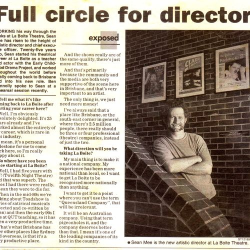 New Artistic Directed Sean Mee appointed in 2001.