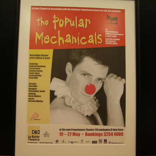 Andrew Buchanan in The Popular Mechanicals, 2000. Poster image by Grant Heaton.