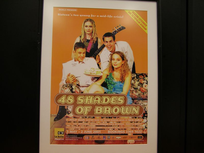 48 shades of brown Based on the award winning novel by nick earls, 48 shades of brown, this  coming of age comedy is about a 16 year old, dan, who must choose between  going.