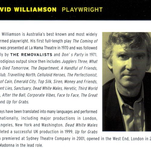David Williamson, one of Australia's Living National Treasures