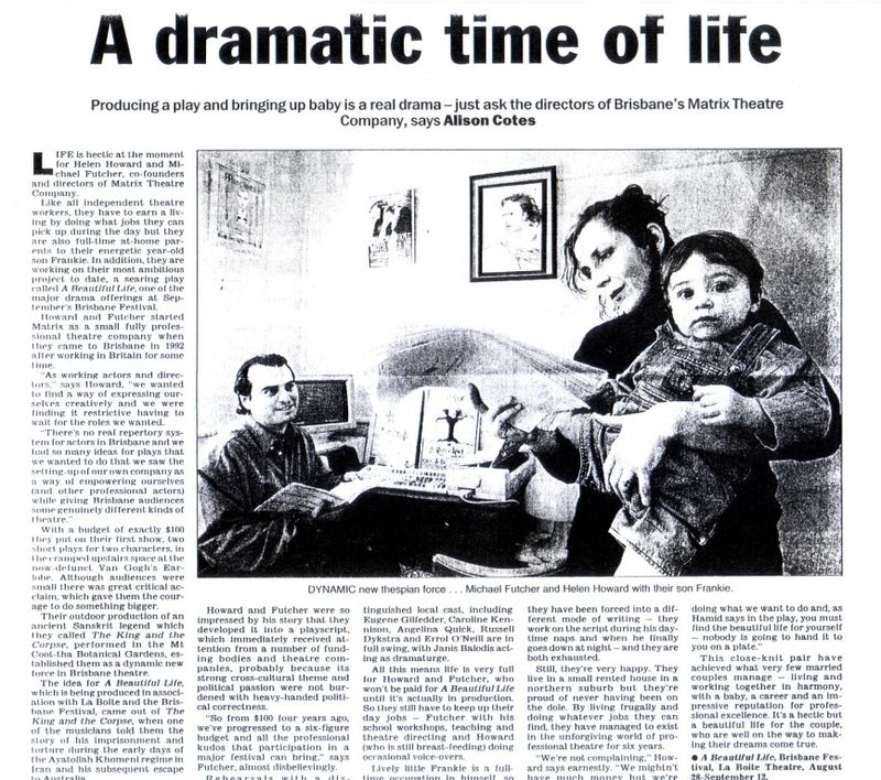 beautiful life michael futcher essay Free sample australia essay on audiences are not only entertained both 'stolen' by jane harrison and 'a beautiful life' by michael futcher and helen.