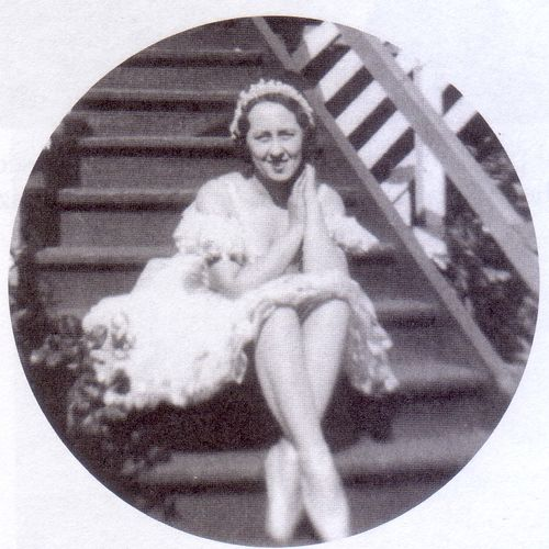 Babette Fergusson, ballerina in her late teens, at home in Townsville in the late 1920s.