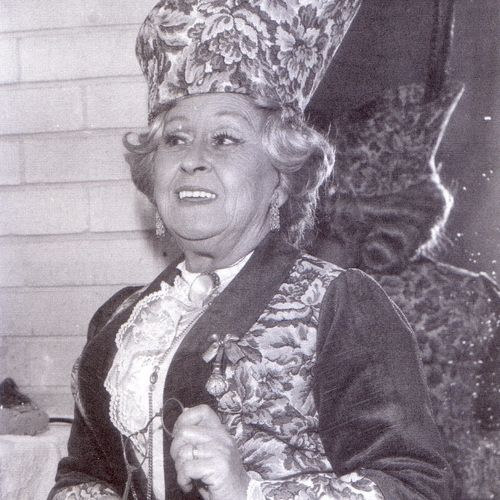 Babette's QTC debut as Lady Bracknell in The Importance of Being Earnest, 1975.