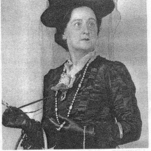 Prominent director and actress Daphne Roemermann (in costume).
