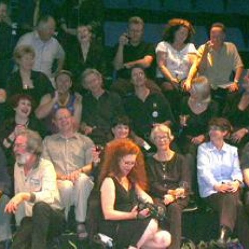 Actors and past directors at the Final Bow, 2003.