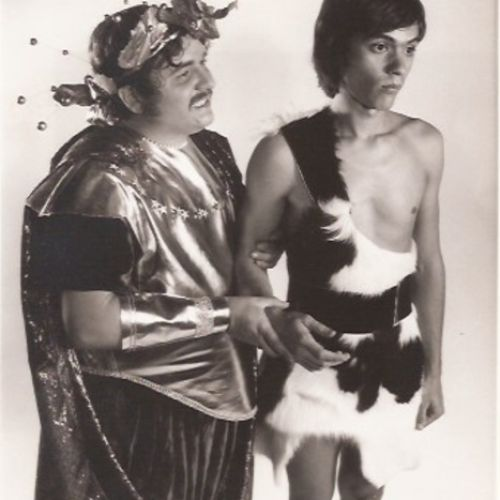 Randall Berger as Zeus and Harry Scott as Clementus, a humble shepherd, 1974