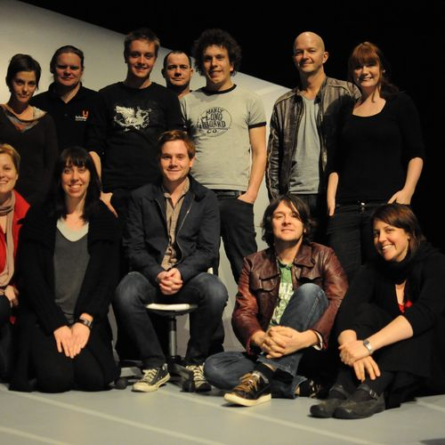Director David Berthold with cast, crew & creatives of I Love You Bro, 2010.