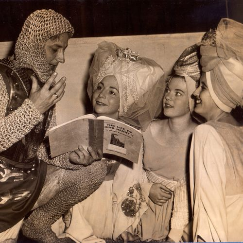 Couple on left: Geoffrey Baker as Henry V & Beverley Bates as Katharine in King Henry V, 1962.