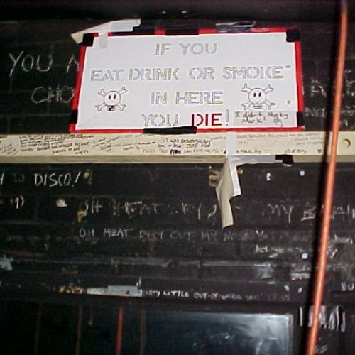 Techie message in the tunnel! Circa 2000.