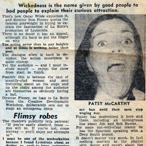 Review by Mick Barnes in Sunday Sun, 17 October 1976.