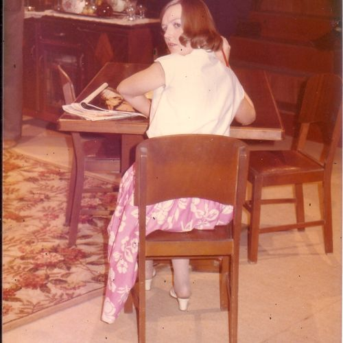 Kaye Stevenson performing the first act of A Refined Look at Existencefor the official opening Sunday June 4, 1972.