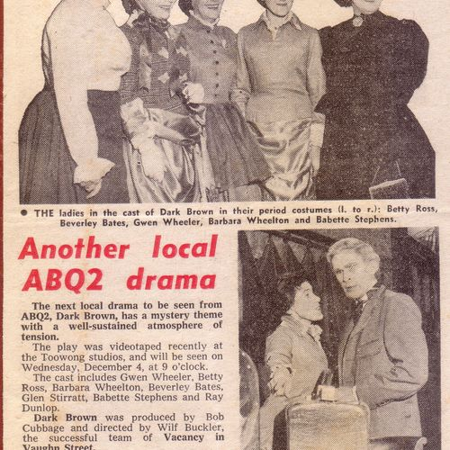 Rep actors were prominent in Brisbane ABC radio drama