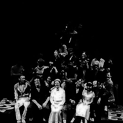 The cast, band and crew at the end of the technical rehearsal