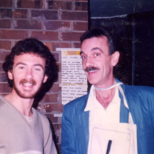 Cast member with Jim Vilé